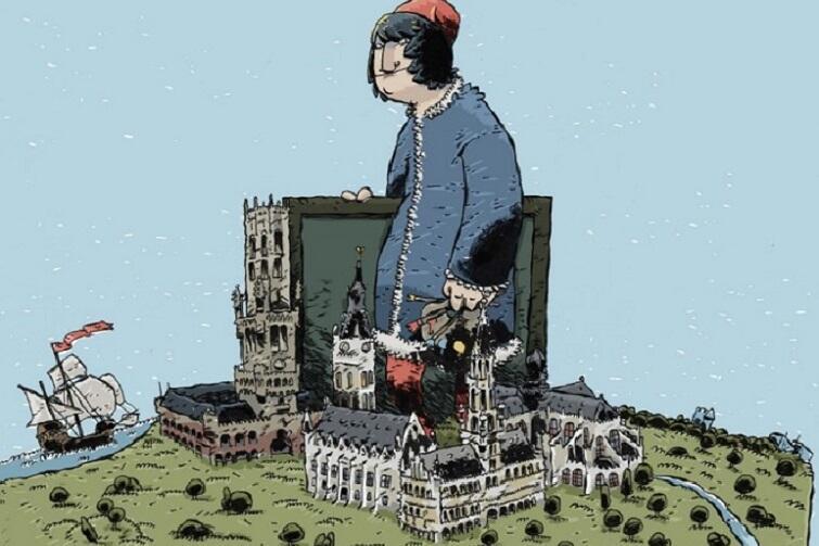 """""""Hans Memling. Malarz tego drugiego renesansu"""" - komiks narysował i napisał Łukasz Pawlak. Można go kupić w Muzeum Narodowym"""