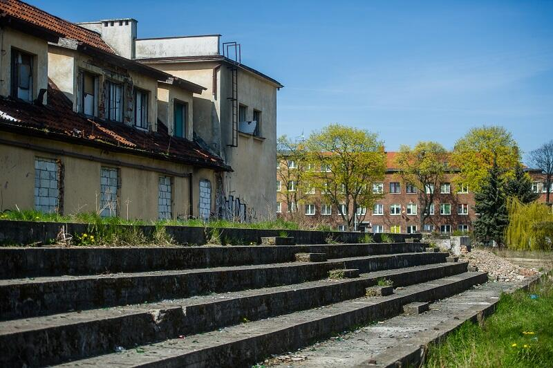 Tak dziś wygląda teren byłego klubu sportowego Gedania w Gdańsku
