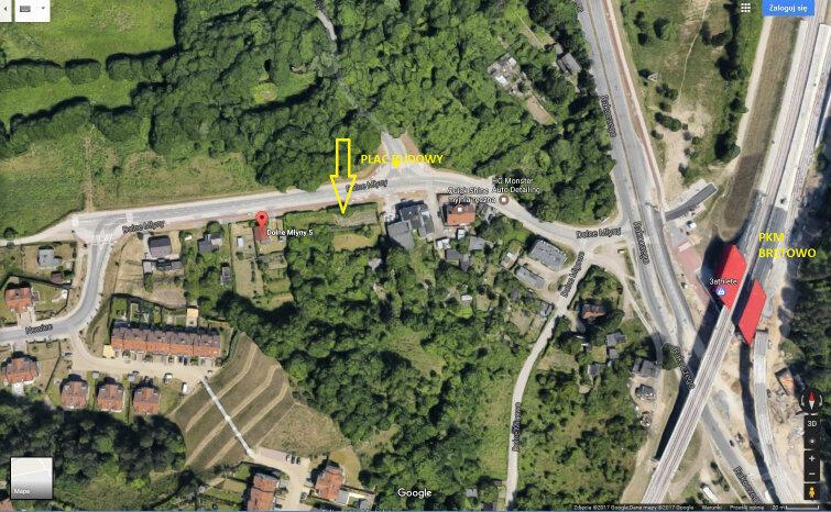 Mapka z lokalizacją domu przy Dolnych Młynach 4c