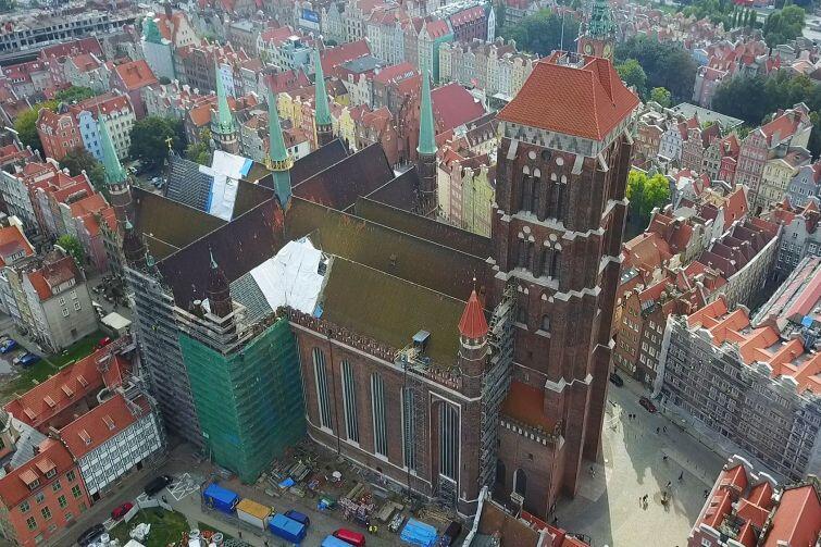 Remont Bazyliki Mariackiej w Gdańsku