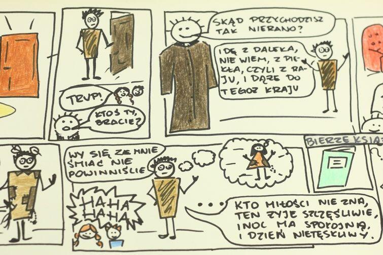 Adam Mickiewicz w wersji komiksowej. Tak uczy się wieszcza kreatywnie...