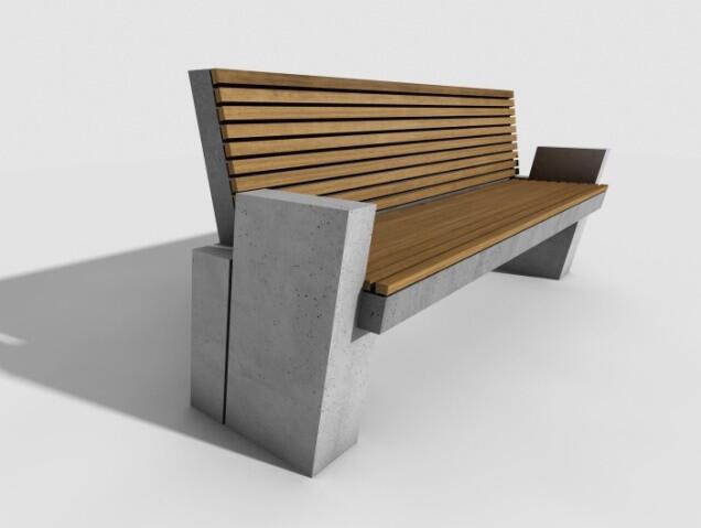 Takie betonowo-drewniane ławki trafią np. na Stogi
