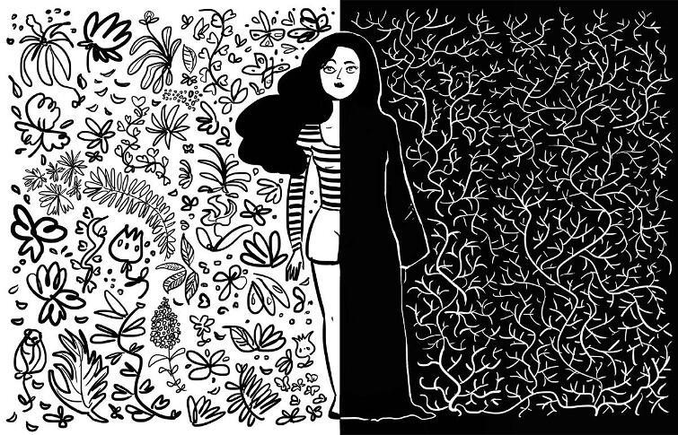Tak gdańska artystka Magda Danaj wyobraża sobie los kobiety w państwie wyznaniowym, rządzonym przez ajatollahów: w połowie wolna, w połowie okryta czadorem i zniewolona
