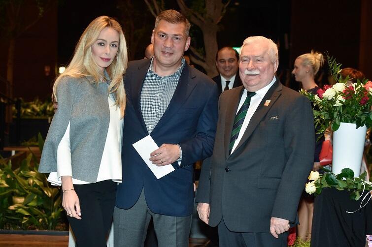 Były bokser Dariusz Michalczewski z żoną