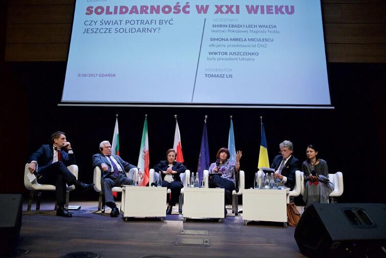 Debata Solidarność w XXI wieku w audytorium ECS