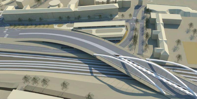 Wizualizacja nowego wiaduktu i układu drogowego