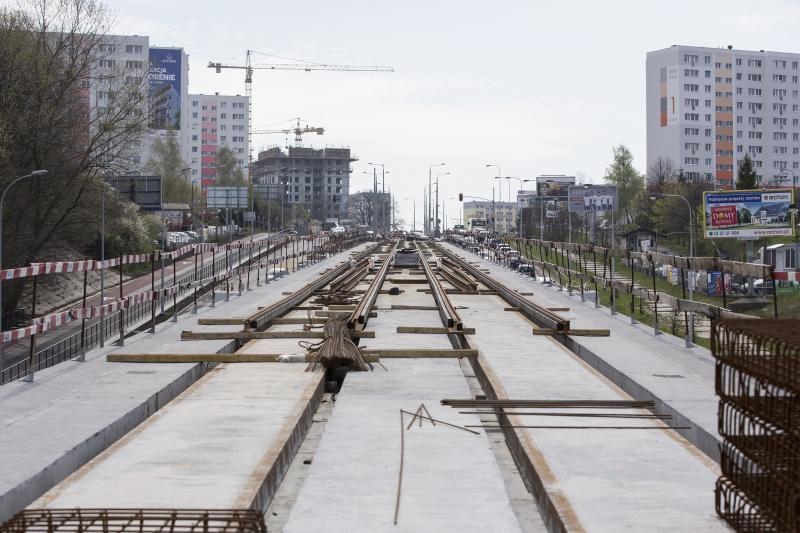 Trasa estakady tramwajowej na linii Siedlce - Piecki-Migowo została pociągnięta do przystanku Pomorskiej Kolei Metropolitalnej 'Brętowo'