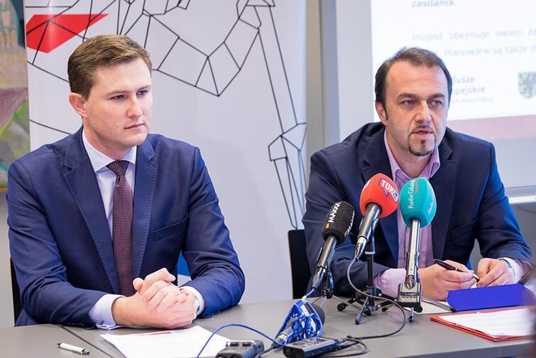 Wiceprezydent Piotr Grzelak i Ryszard Gajewski, prezes Gdańskich Wód