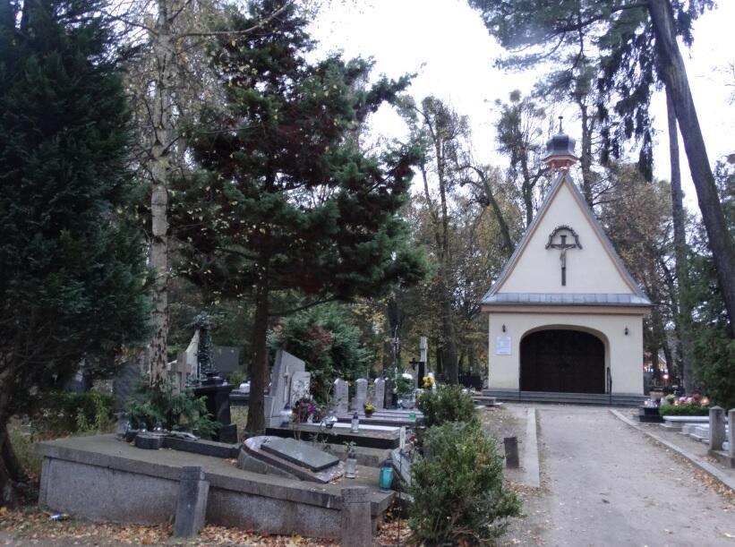 Kaplica na oliwskim cmentarzu