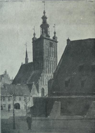 Kościół św. Katarzyny; rys. E. Lindemana