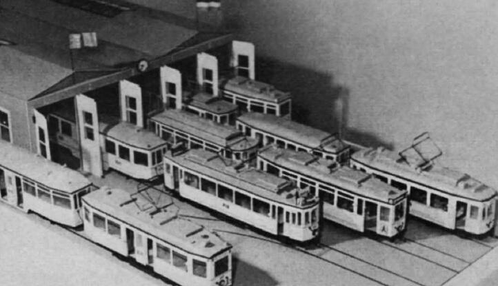 Gdańska zajezdnia w mieszkaniu Dietricha Scheelje, ok. 1960