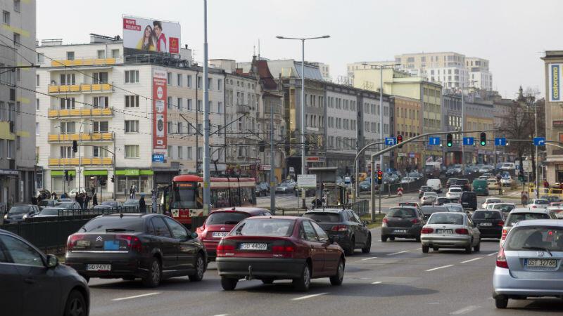 Skrzyżowanie Alei Grunwaldzkiej z ulicami Miszewskiego i Do Studzienki. Przez kilka dni wyłączone z ruchu będzie przejście dla pieszych