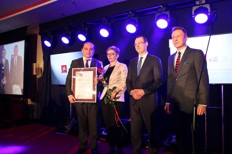 Basil Kerski, dyrektor ECS odebrał nagrodę podczas jubileuszowej XV gali konkursu w Warszawie, 23 listopada 2017