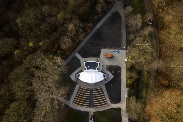 Amfiteatr wybudowany w Parku Oruńskim