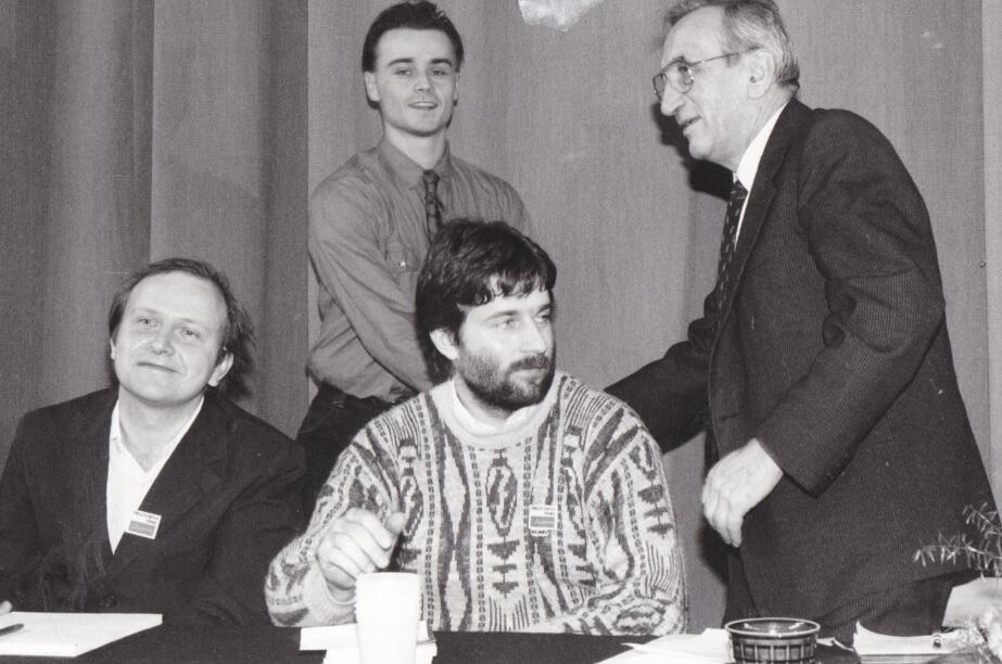 Spotkanie w ramach kampanii prezydenckiej Tadeusza Mazowieckiego, 1990