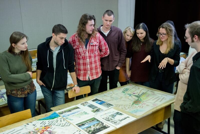 Studenci architektury zajmowali się poszczególnymi fragmentami Kołobrzeskiej i przecinających ją mniejszych ulic
