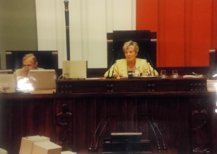 Podczas prowadzenia obrad Sejmu, lata 90. XX w.