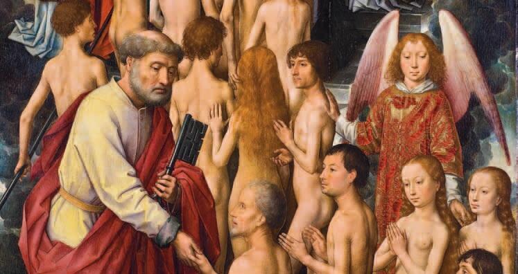 'Na drugim stopniu stoi po ojcowsku przyjazna i łagodna postać św. Piotra'.