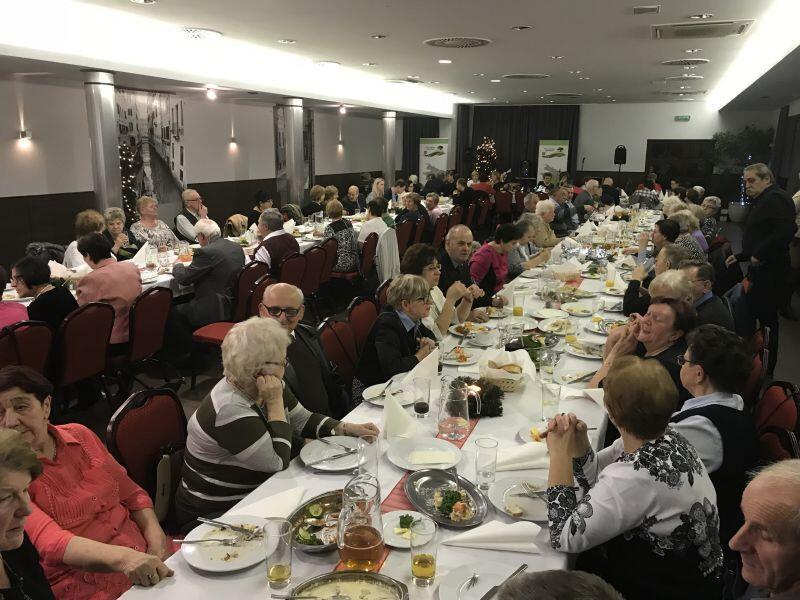 Spotkanie wigilijne dla  seniorów w Kokoszkach