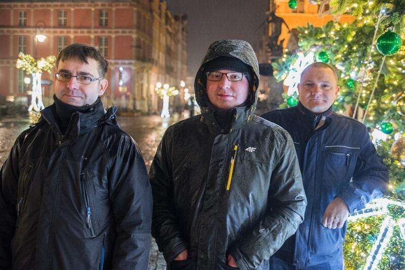 Część ekipy Działu Energetycznego GZDiZ, od l.: Bogusław Nadolny, Jacek Wojtczak i Wojciech Grabowski