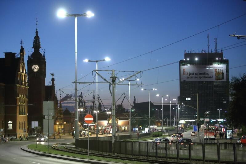 Lampy ledowe przy Wałach Jagiellońskich