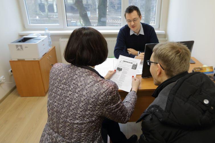 Jeden z punktów bezpłatnej pomocy prawnej w Miejskim Ośrodku Pomocy Rodzinie w Gdańsku przy ulicy Dyrekcyjnej 5