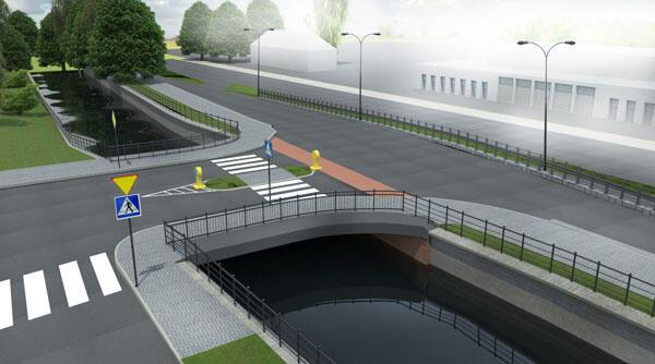 Nowy most w ciągu ul. Starogardzkiej ma zapewnić jednoczesny ruch dwukierunkowy