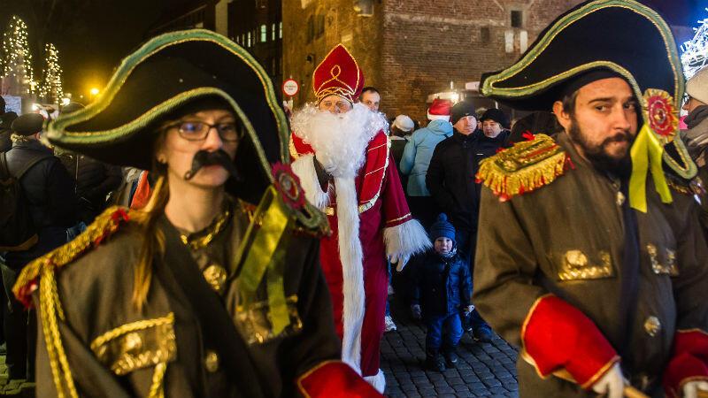 Przybycie Mikołaja do Gdańska przed rokiem