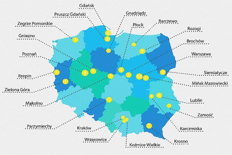 Szkoły, które wzięły udział w akcji. Wśród placówek z Polski, była też placówka z Niemenczyna na Litwie