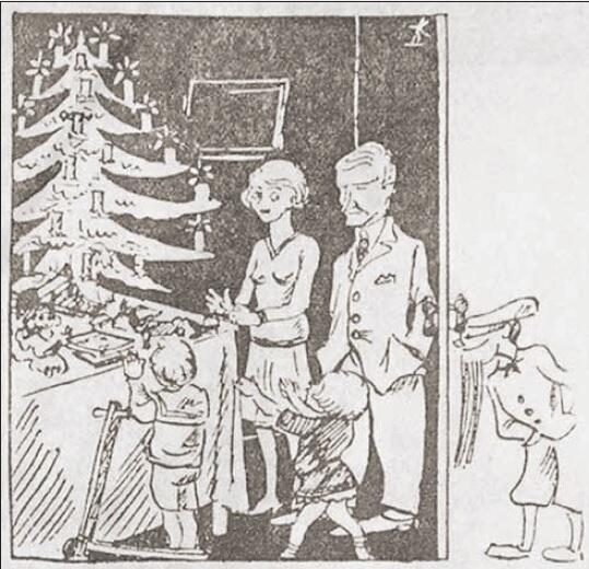 Nastrojowa scena z reklamy w 'Danziger Volksstimme'