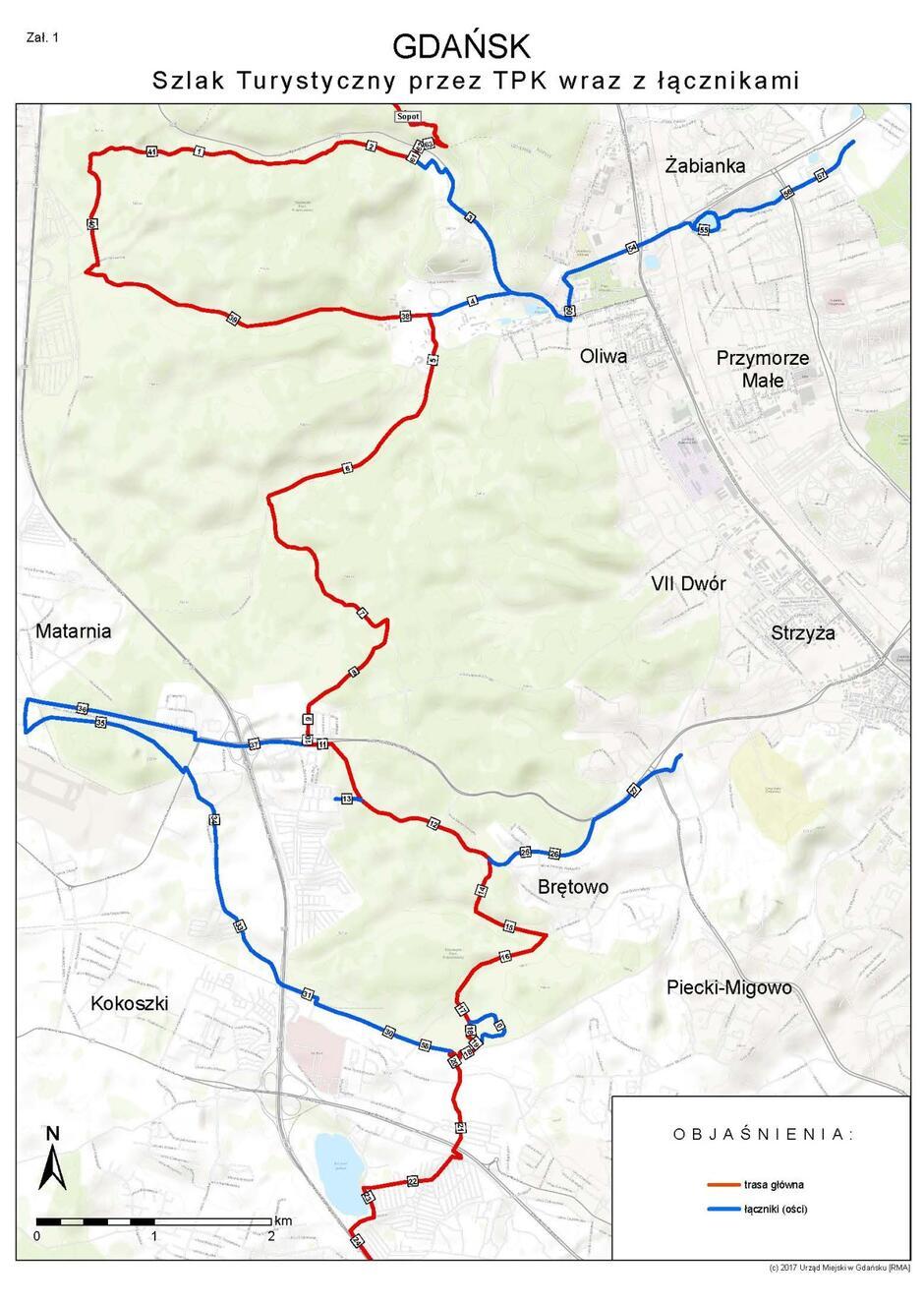 Tak przebiegać będzie zmodernizowana trasa w TPK na terenie należącym do gminy Gdańsk