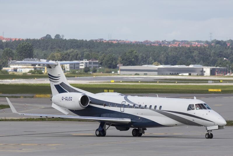 18 lipca 2017 r., lądowanie samolotu z księżną i księciem Cambridge na pokładzie na gdańskim lotnisku