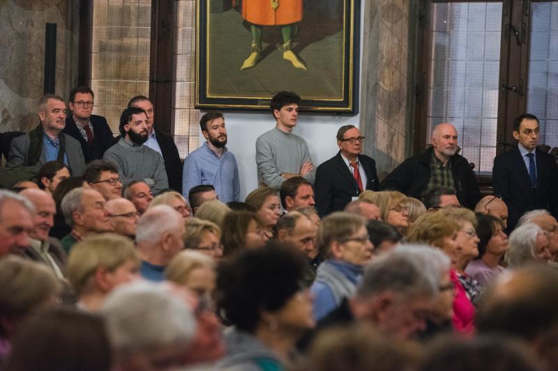 100-lecie Niepodległości, Polskie konstytucje, wykład Aleksandra Halla w Ratuszu Głównego Miasta