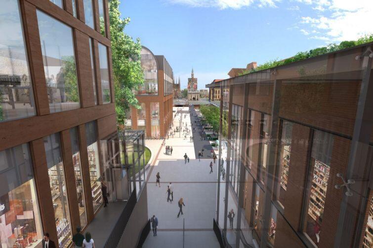Forum Gdańsk: widok na Główne Miasto