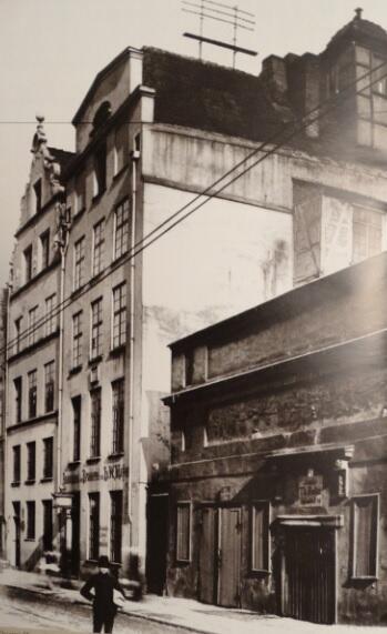 Domy Heweliusza przy ulicy Korzennej 53-55, stan przedwojenny