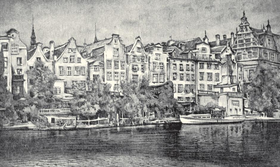 Stare domy nad Motławą