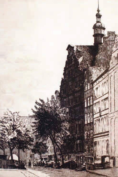 """""""Rodzinną"""" ulicą Reinicka była ulica Chlebnicka; rysunek B. Hellingratha"""