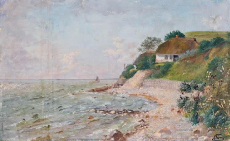 """""""Krajobraz morski"""" obraz R. Reinicka; może jest to klif w Orłowie?"""