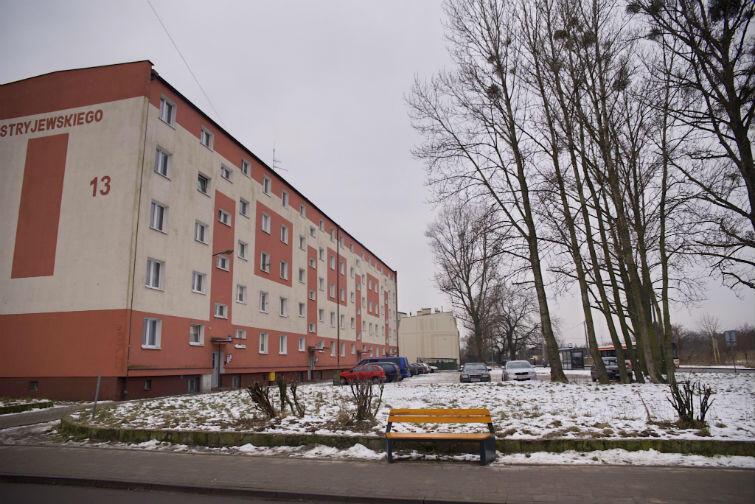Podwórko przy ul. Stryjewskiego 13