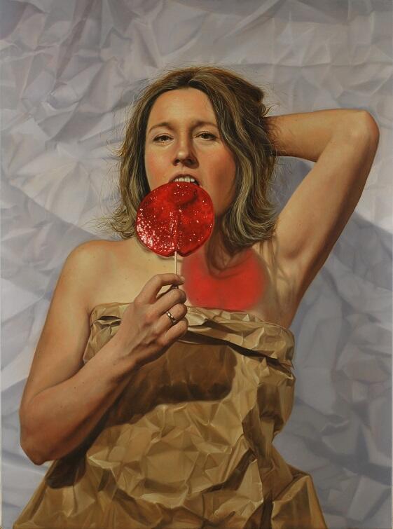 Tomasz Kucharski, 'Aleksandra', portret żony artysty