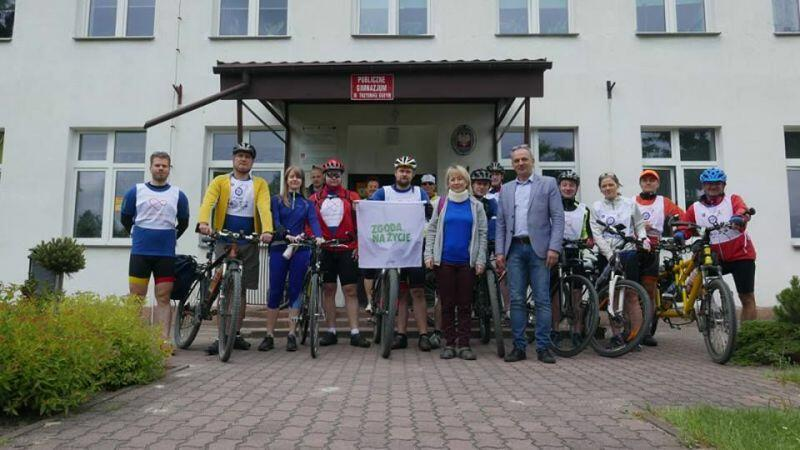 Jeden z przystanków podczas ubiegłorocznego rajdu rowerowego po Polsce