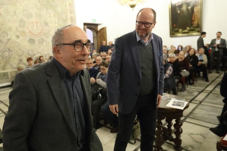 Prof. Smolar z prezydentem Gdańska Pawłem Adamowiczem, pomysłodawcą Gdańskich Debat Obywatelskich