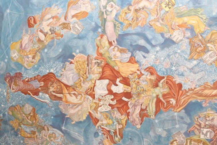 'Niebo polskie' - fragment malowidła na suficie