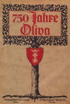 Strona tytułowa publikacji wydanej w związku z jubileuszem Oliwy w 1928 roku