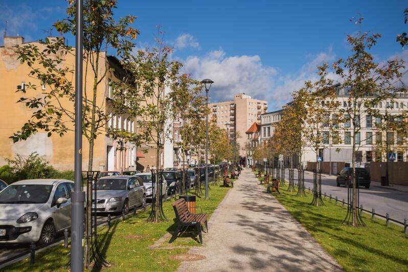 Gdansk Dolne Miasto, zrewitalizowana wizytówka dzielnicy - ulica Łąkowa