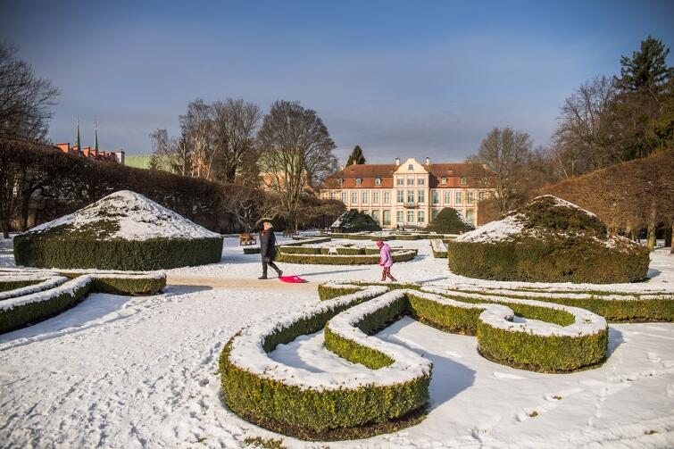 Piatek, 9 lutego, zima w Parku Oliwskim