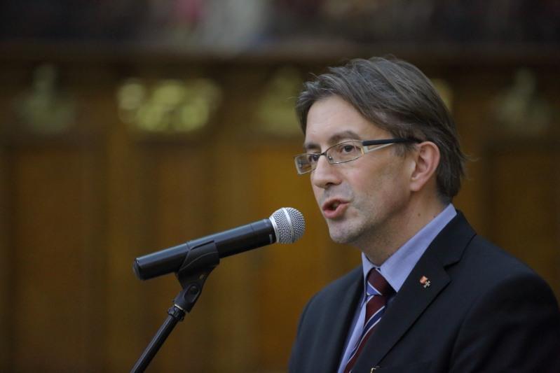 Janusz Trupinda, kurator wystawy o Krzyżakach i Gdańsku, która odbyła się w 550.lecie Pokoju Toruńskiego w Muzeum Historycznym Miasta Gdańska