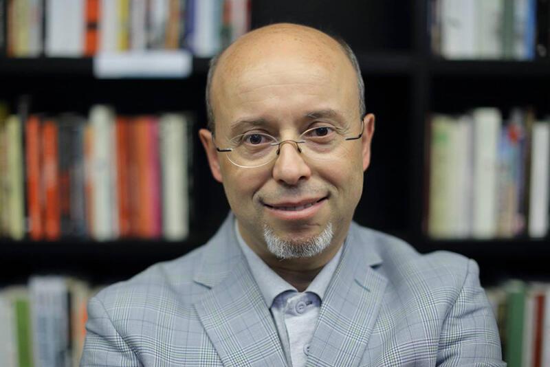 Prof. Andrzej Leder podczas wykładu w bibliotece Europejskiego Centrum Solidarności, maj 2016 r.