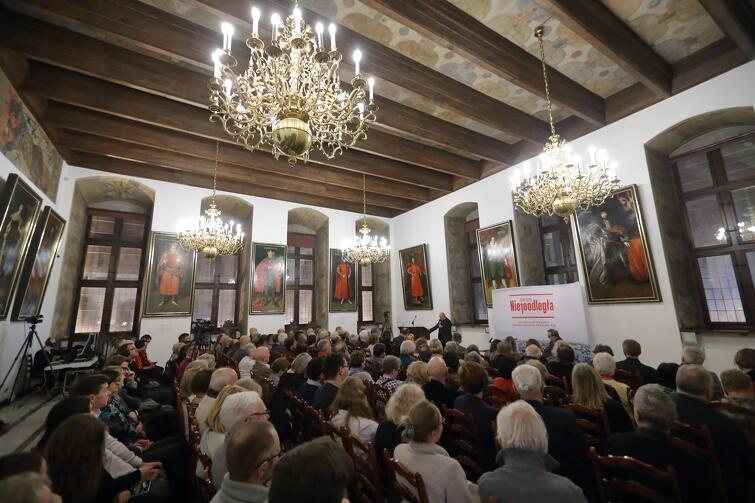 Spotkanie odbyło się w Wielkiej Sali Wety Ratusza Głównomiejskiego