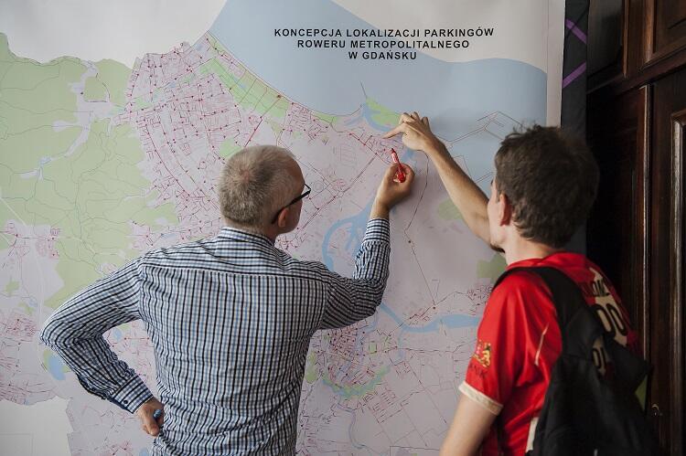 Konsultacje rozmieszczenia stacji roweru metropolitalnego we wrześniu 2017 r.